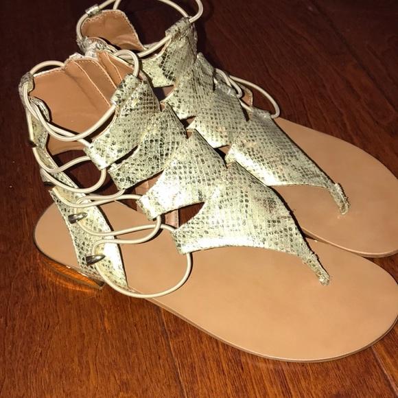 270c5be5673 Beautiful Gold Aldo Sandals